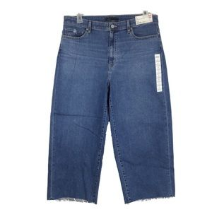 """Women's High-Rise Wide Cropped Jeans W34"""""""